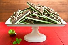 Grasshopper Chocolate Bark...Think Andes mints, like the ones you get at the Olive Garden.