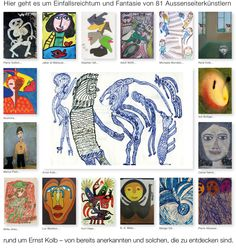 Welcome to a collection of outsider art Web Gallery, Outsider Art, The Outsiders, Presents, Artist, Mannheim, Kunst, Gifts, Artists
