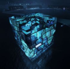 MVRDV recently designed the Water Cube pavilion for the 2012 World Expo in Yeosu, Korea. The structure is designed to express the power and beauty of the oceans, and is composed of water filled basins, which act as both a temperature buffer as well as the main attraction. A bit like being inside an aquarium, the hollow inner sanctum will be lit with water-filtered light.