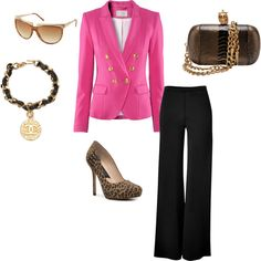 Black and Pink, created by pamela-barrett-williamson on Polyvore