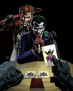 Art Du Joker, Bat Joker, Batman Red Hood, Batman Vs, Joker Dc Comics, Dc Comics Art, Comic Book Artists, Comic Books Art, Comic Art