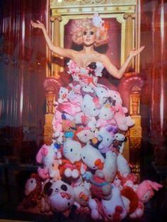 On exhibit in Little Tokyo, LA Hello Kitty Gaga dress