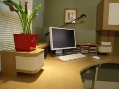 Clutter-free writing nook.