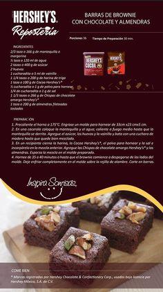 Una deliciosa receta preparada con nuestra Cocoa Hershey's® y Chispas de chocolate Hershey's®. #Hersheys #Chocolate…
