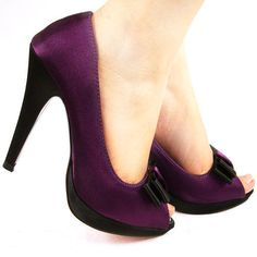 Dark Purple Heels For Wedding