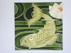 JUGENDSTIL Fliese Replikat Fisch und Seerose Ebay, Art Nouveau, Young Adults, Tile, Pisces, Nice Asses, Pictures