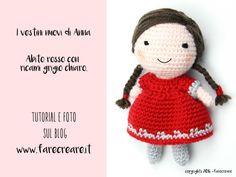 Vestiti per bambola #amigurumi gli schemi in italiano.