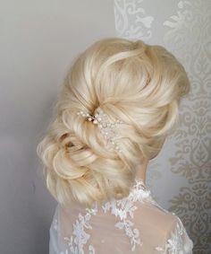 Easy twisted bridal updo tutorial. prom/ wedding hairdo Простая причёска...