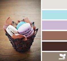Farben braun mit türkis