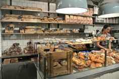 Fabrique. Many locations. Great coffee. and the best swedish cinnamon roll. Get the cardamom one!