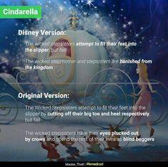 Original vs Disney I don't mind either story, there's a reason Disney changed them, but the originals are beautiful too Disney Pixar, Sad Disney, Disney Fun Facts, Disney Jokes, Disney Cartoons, Disney And Dreamworks, Disney Stuff, Punk Disney, Disney Food