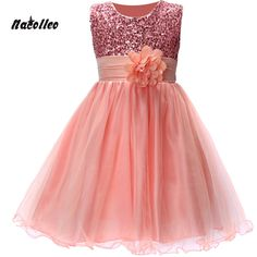 12.33$  Watch now - http://aliyi9.shopchina.info/go.php?t=32580383353 - New Kids Birthday Girl Dress Cute Sequin Sleeveless Vest Princess Lace Dress 10 colors Baby Dresses For Girls Vestido 4-12Y  #aliexpresschina