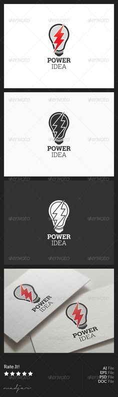Power Idea Logo — Photoshop PSD #corporation #company • Available here → https://graphicriver.net/item/power-idea-logo/5921546?ref=pxcr
