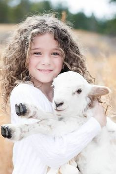 Easter portrait with a lamb