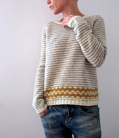 """Almost there..."" sweater knitting pattern by Isabell Kraemer.  Sport weight yarn."