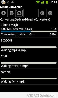 Mp3 Media Converter v1.2 APK allows you to convert your media (videos of flv, 3gp, mp4 and more…) files to mp4 or mp3