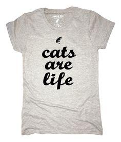 Cats are Life - Light Gray Classic Tee (Women's) – Jungle Cat Tees