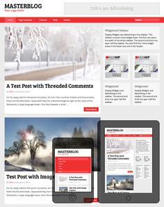 The fully responsive and adaptive MasterBlog theme serves as the perfect fit for any blog, news, or online magazine site. This theme is wider than most sites your visitors are accustomed to, but it scales down and adapts for visitors using lower resolution screens like