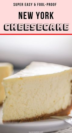 Literally the best cheesecake recipe ever. Seven simple ingredients. No water bath. No cracking ever. Cheesecake Original, Best Cheesecake, Homemade Cheesecake, Easy Cheesecake Recipes, Healthy Dessert Recipes, Best Baked Cheesecake Recipe Ever, Fried Cheesecake, New York Style Cheesecake, Chocolate Cheesecake Recipes