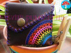 Monedero pequeño arcoiris, Complementos, Monederos, Fechas señaladas, Cumpleaños, Cuero y piel, Monederos