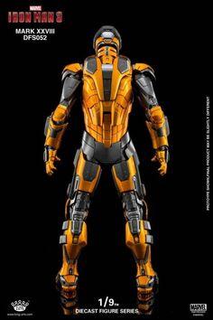 Iron Man 3 DFS052 Iron Man Mark XXVIII Jack 1/9 Scale Figure Iron Man Suit, Iron Man Armor, Iron Man 3, Man Character, Comic Character, Iron Man Fan Art, Marvel Concept Art, Iron Man Poster, Best Armor