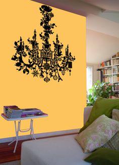 Christmas chandelier - natale - Wallstickers - Adesivi da parete by Silviastickers.com - I coloratissimi Wall Stickers firmati Silvia Massa ...