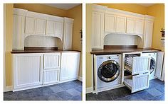 Mudroom and Laundry room combo - just hide the washer and dryer :)