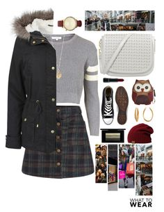 """""""Untitled #92"""" by meagangane on Polyvore featuring Topshop, Converse, Relic, Betsey Johnson, Urban Bliss, Komono, Diane Von Furstenberg, MAC Cosmetics, plaid and shoptilyoudrop"""