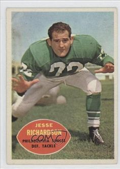 Jesse Richardson COMC REVIEWED Good to VG-EX Philadelphia Eagles (Football Card) 1960 Topps #91 by Topps. $2.25. 1960 Topps #91 - Jesse Richardson COMC REVIEWED Good to VG-EX