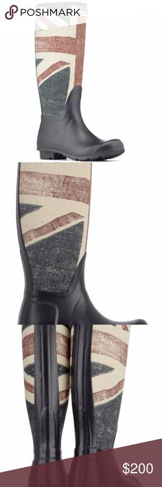 Hunter Vintage Union Jack print Wellington Boots BNWT RARE Hunter boots UK5/US6 Women's boots. Never worn perfect condition no box Hunter Shoes Winter & Rain Boots