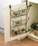 Quickly find the lid you need when you store them all on this Cabinet Lid Organizer. Perfect for pot lids, container lids and more, this organizer hangs from the inside of a cabinet door, utilizing otherwise empty space. It has 3 tiers to maximize storag Tupperware, Small Kitchen Organization, Diy Kitchen Storage, Bathroom Storage, Small Bathroom, Old Kitchen, Kitchen Decor, Kitchen Ideas, Country Kitchen