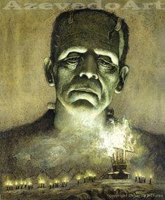 Frankenstein 1931 - Art Print. $20.00, via Etsy.