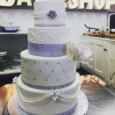 Wedding Cake by a Bakeshop!