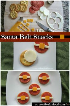 Santa Belt Snacks! A Simple and Healthy Christmas Themed Snack that the kiddos can make!