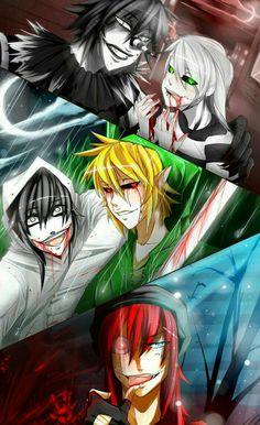 Laughing Jack, Jeff the Killer, Ben Drowned; Creepypasta  Please tell me the names of the missing Creepypastas if you know
