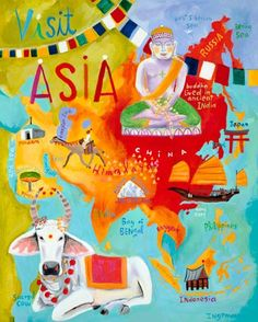 """""""Visit Asia"""" - Canvas Wall Art from Oopsy daisy, Fine Art for Kids"""