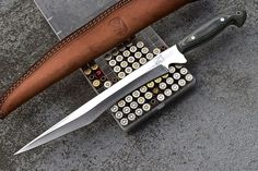 CFK iPak USA Custom Handmade D2 Tool Micarta God Of War Tanto Short Sword Knife #iPakSurvivalUSA
