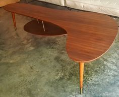Mid Century Modern Boomerang Coffee Table James Philip Hanging Shelf by gremlina on Etsy