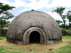 the best time of the day: zulu huts.