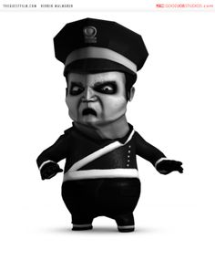 Shortfilm, Police Officer, Maya, Captain Hat, Sketches, Animation, 3d, Character, Draw