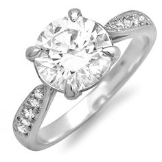 10kt White Gold Solitaire Diamond by MasterPieceJewelers on Etsy, $999.00
