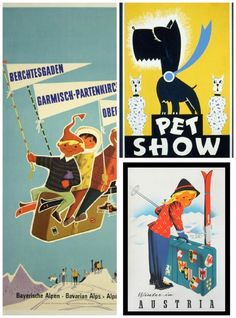 Vintage posters for a child's room on Cool Mom Picks