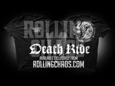 """Rolling Chaos """"Death Ride"""" Tee available from www.rollingchaos.com Pale Horse, Ss, Rolls, Death, Mens Tops, T Shirt, Supreme T Shirt, Tee, Buns"""