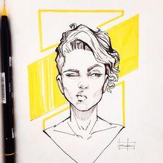 trendy ideas for hair drawing short girl character design Illustrations, Illustration Art, Arte Sketchbook, Sketchbook Inspiration, Art Drawings Sketches, Portrait Art, Portraits, Pretty Art, Art Inspo