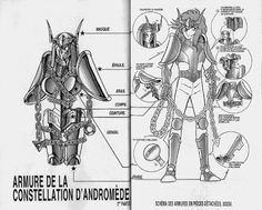 Saint Seiya, Andromeda Bronze Cloth diagram version 2