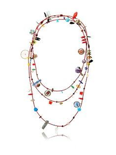 Mercedes Salazar Long Charm Necklace, Red/Multicolor at MYHABIT