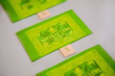 Natural Lens 3 in 1 Elite woven label.  #Green #Woven #Label #Finotex