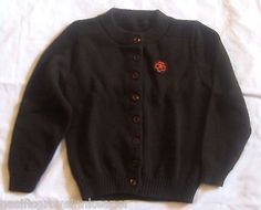 Vintage Girl Scout 1970's-1990's BROWNIE SWEATER Child Official Uniform Brown