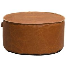 Lebel poef Jens - cognac - 60x30 cm | Leen Bakker Chill Room, Living Room Interior, Ottoman, Sweet Home, Chair, Leather, Furniture, Home Decor, Design Products