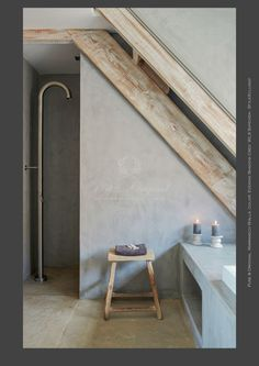 Marrakech Walls Paint. This paint is very special. You can get the concrete look or tadelakt look, and it is 100% mineral.